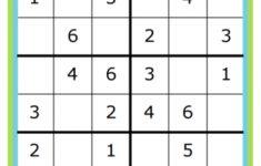 Printable Kid Sudoku Puzzles
