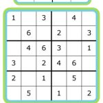 Week 7: Learning Math With Sudoku | 52 Weeks Of Learning With The | Printable Sudoku Puzzles Medium #3