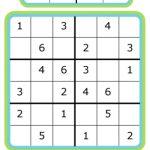 Week 7: Learning Math With Sudoku | Slimme Kleuters   Voor Kinderen | Free Printable Sudoku 9X9