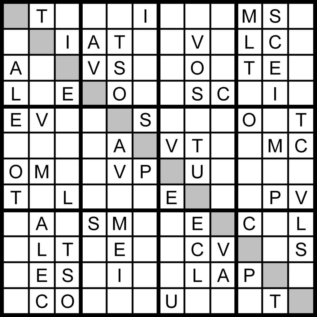 Word Sudoku - Under.bergdorfbib.co | Printable Sudoku Challenger Puzzles