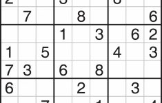 Free Printable Sudoku And Crossword Puzzles