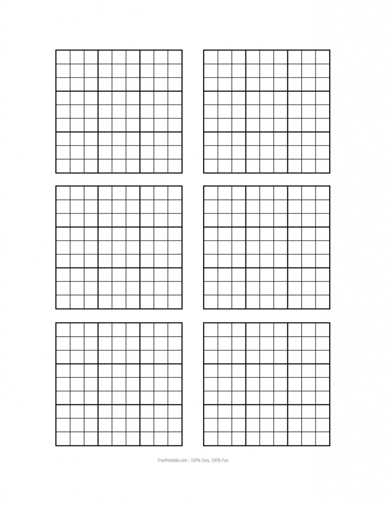 Worksheet : Sudoku Grid Solver Free Printable Blank Square | Printable Sudoku Blank Puzzles 4 Per Page